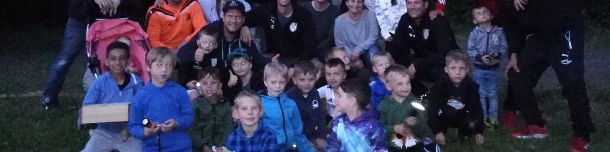 G-Junioren beim Zelten in Losheim